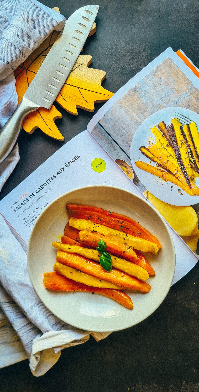 salade de carottes jaunes aux épices