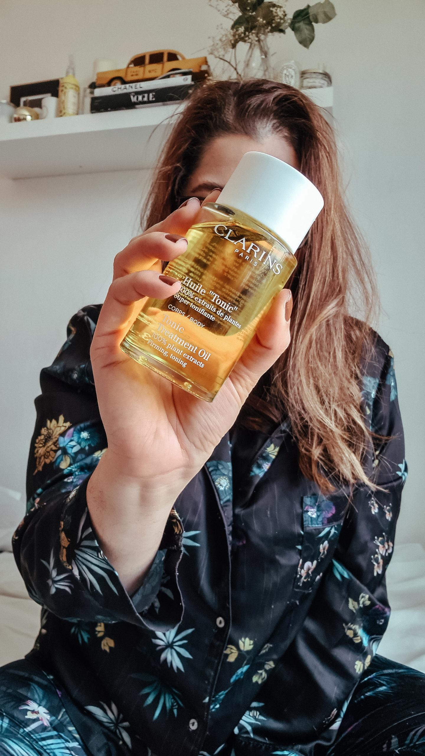 huile tonic clarins avis